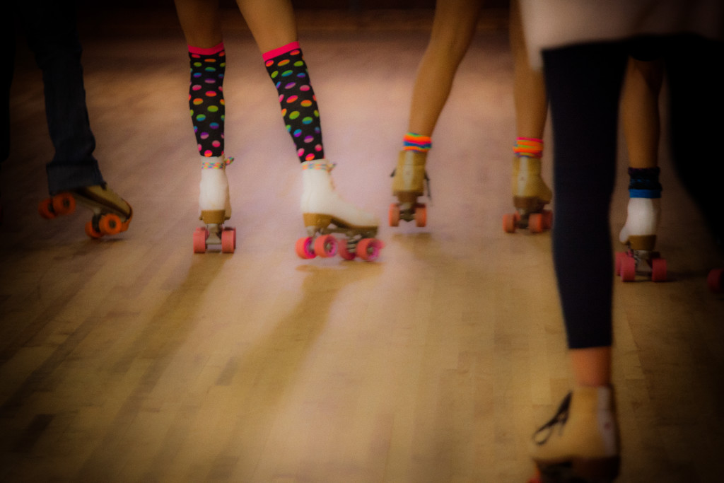skates, colorful